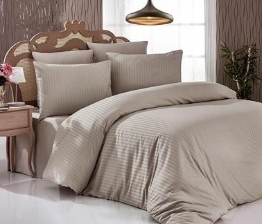 Komfort Home Çizgili Saten Yastık Kılıfı Renkli